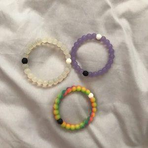 3 Lokai bracelets